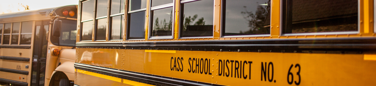 Cass school busses in line